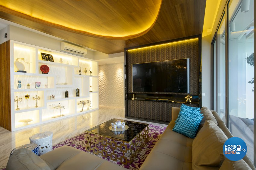Contemporary, Eclectic, Modern Design - Living Room - Condominium - Design by Hue Concept Interior Design Pte Ltd