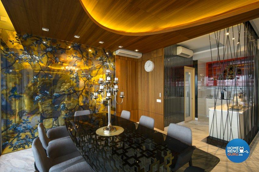 Contemporary, Eclectic, Modern Design - Dining Room - Condominium - Design by Hue Concept Interior Design Pte Ltd