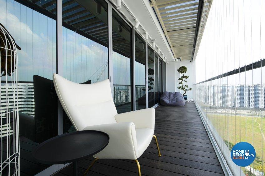 Contemporary, Eclectic, Modern Design - Balcony - Condominium - Design by Hue Concept Interior Design Pte Ltd