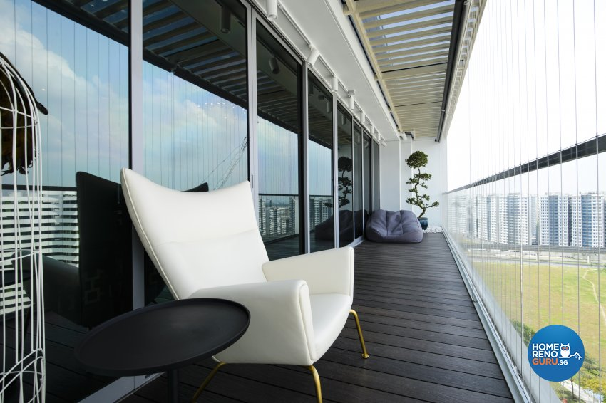 Contemporary, Eclectic, Modern Design - Balcony - Condominium - Design by Hue Concept Interior Design Pte Ltd