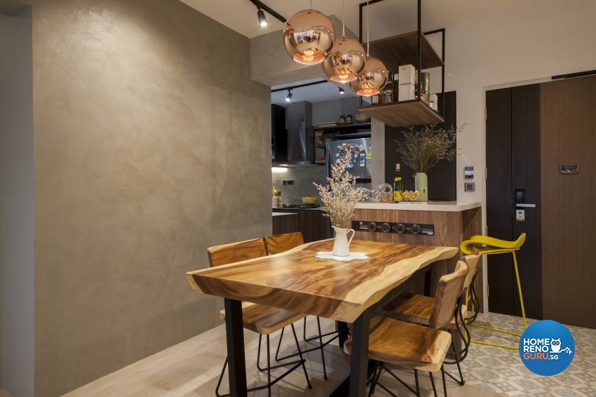 Eclectic, Industrial Design - Dining Room - HDB 4 Room - Design by Hue Concept Interior Design Pte Ltd