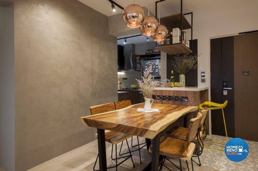 Eclectic, Industrial Design - Dining Room - HDB 4 Room - Design by Hue Concept Interior Design Pte Ltd