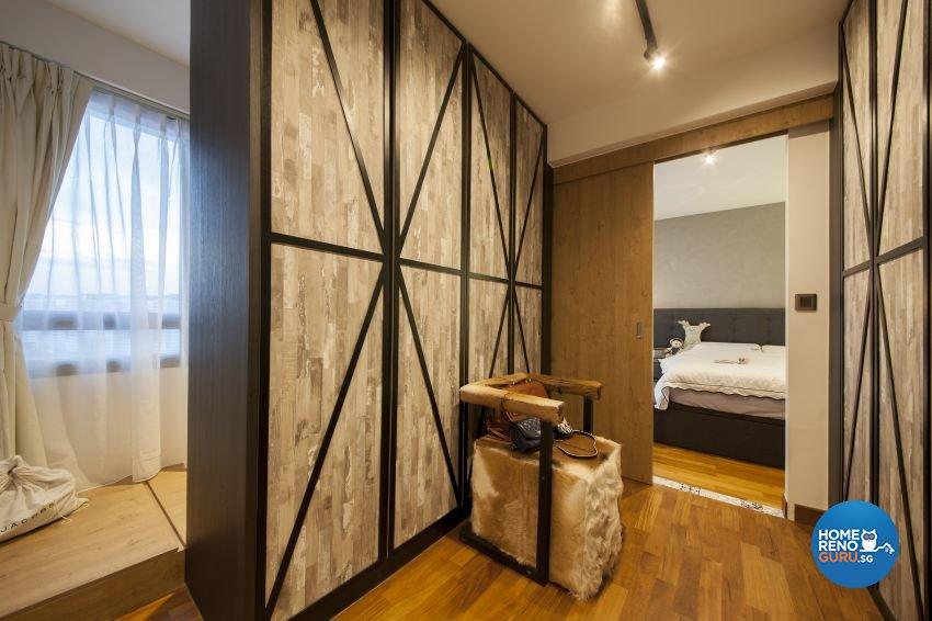 Eclectic, Industrial Design - Bedroom - HDB 4 Room - Design by Hue Concept Interior Design Pte Ltd