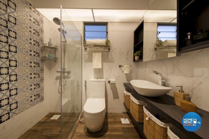 Eclectic, Industrial Design - Bathroom - HDB 4 Room - Design by Hue Concept Interior Design Pte Ltd