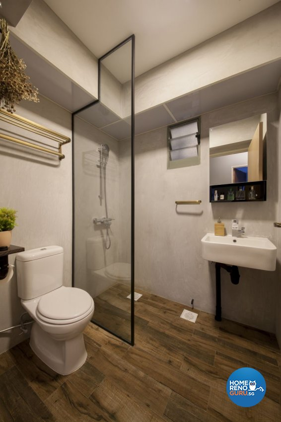 Eclectic, Industrial Design - Bathroom - HDB 4 Room - Design by Hue Concept Interior Design Pte Ltd