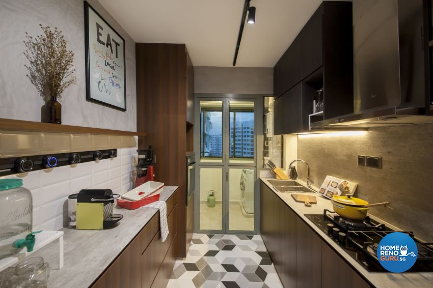 Eclectic, Industrial Design - Kitchen - HDB 4 Room - Design by Hue Concept Interior Design Pte Ltd