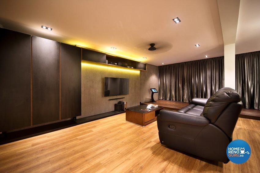 Contemporary, Modern Design - Living Room - HDB 5 Room - Design by Hue Concept Interior Design Pte Ltd