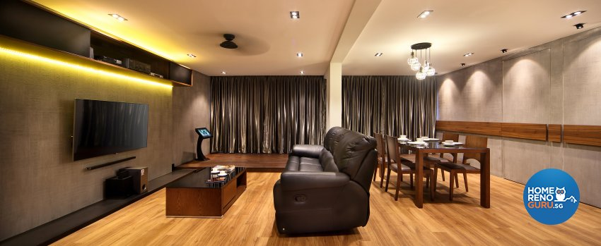 Contemporary, Modern Design - Living Room - HDB 5 Room - Design by Hue Concept Interior Design Pte Ltd