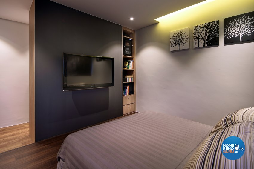 Contemporary, Modern Design - Bedroom - HDB 5 Room - Design by Hue Concept Interior Design Pte Ltd