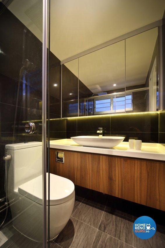 Contemporary, Modern Design - Bathroom - HDB 5 Room - Design by Hue Concept Interior Design Pte Ltd