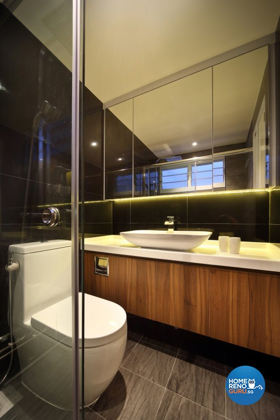 Contemporary, Modern Design - Bathroom - HDB 5 Room - Design by Hue Concept Interior Design Pte Ltd