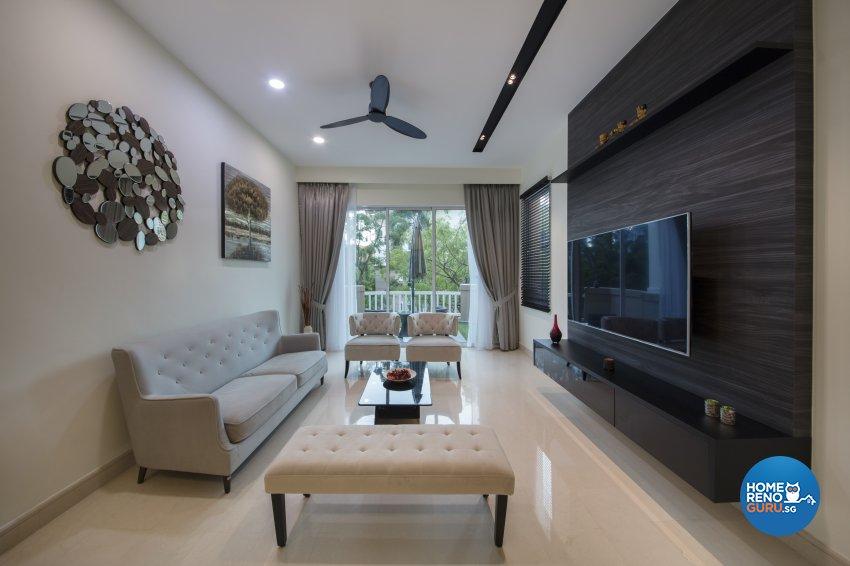 Contemporary, Modern Design - Living Room - Condominium - Design by Hue Concept Interior Design Pte Ltd