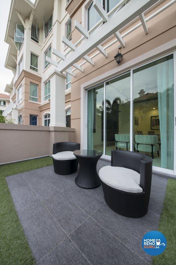 Contemporary, Modern Design - Balcony - Condominium - Design by Hue Concept Interior Design Pte Ltd