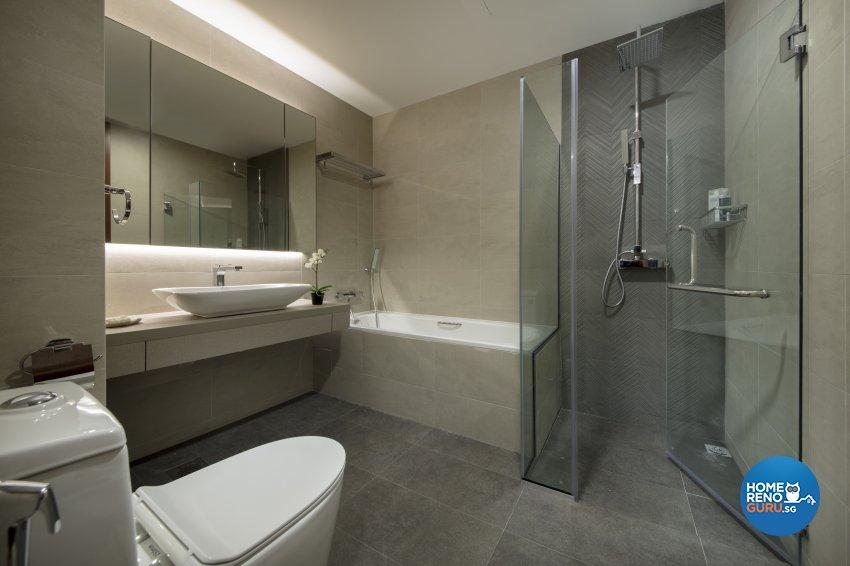 Contemporary, Modern Design - Bathroom - Condominium - Design by Hue Concept Interior Design Pte Ltd