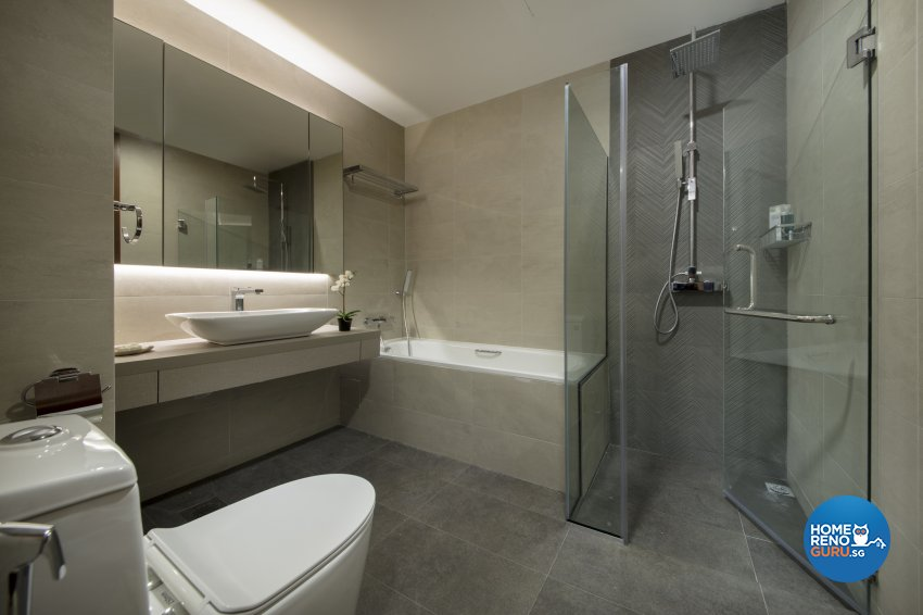 Contemporary, Modern Design - Bathroom - Condominium - Design by Hue Concept Interior Design Pte Ltd