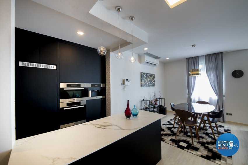 Contemporary, Modern, Scandinavian Design - Kitchen - Condominium - Design by Hue Concept Interior Design Pte Ltd