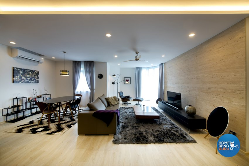 Contemporary, Modern, Scandinavian Design - Living Room - Condominium - Design by Hue Concept Interior Design Pte Ltd