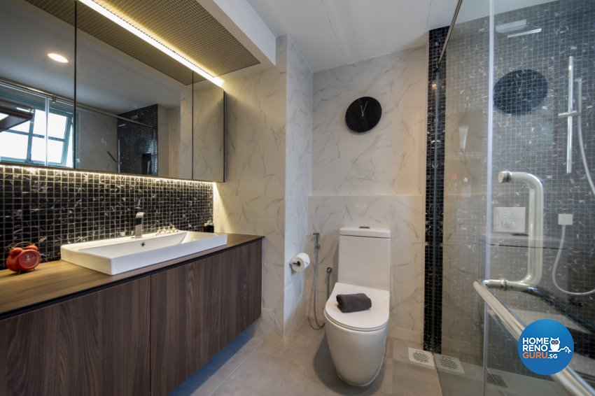 Contemporary, Modern, Scandinavian Design - Bathroom - Condominium - Design by Hue Concept Interior Design Pte Ltd