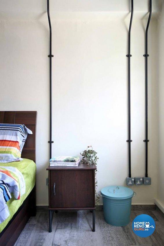 Modern, Retro Design - Bedroom - HDB 4 Room - Design by Hue Concept Interior Design Pte Ltd
