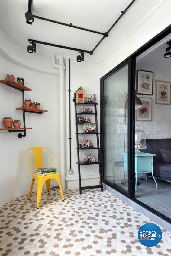 Modern, Retro Design - Balcony - HDB 4 Room - Design by Hue Concept Interior Design Pte Ltd