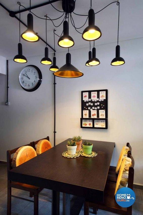 Modern, Retro Design - Dining Room - HDB 4 Room - Design by Hue Concept Interior Design Pte Ltd