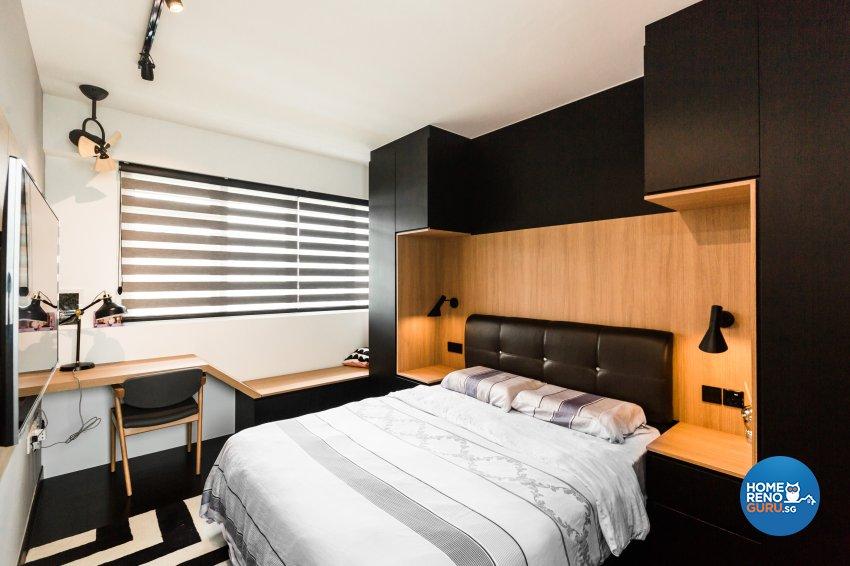 Eclectic, Industrial, Scandinavian Design - Bedroom - HDB 5 Room - Design by Hue Concept Interior Design Pte Ltd