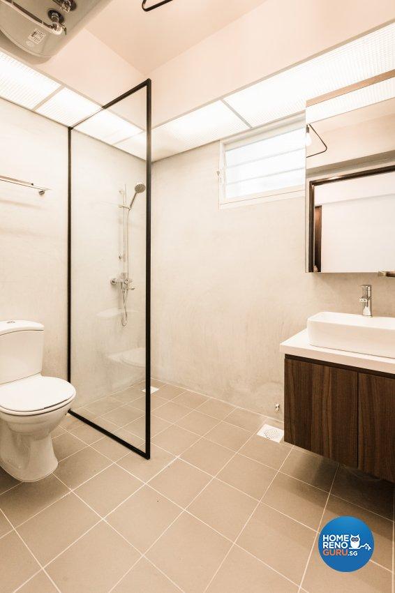Eclectic, Industrial, Scandinavian Design - Bathroom - HDB 5 Room - Design by Hue Concept Interior Design Pte Ltd