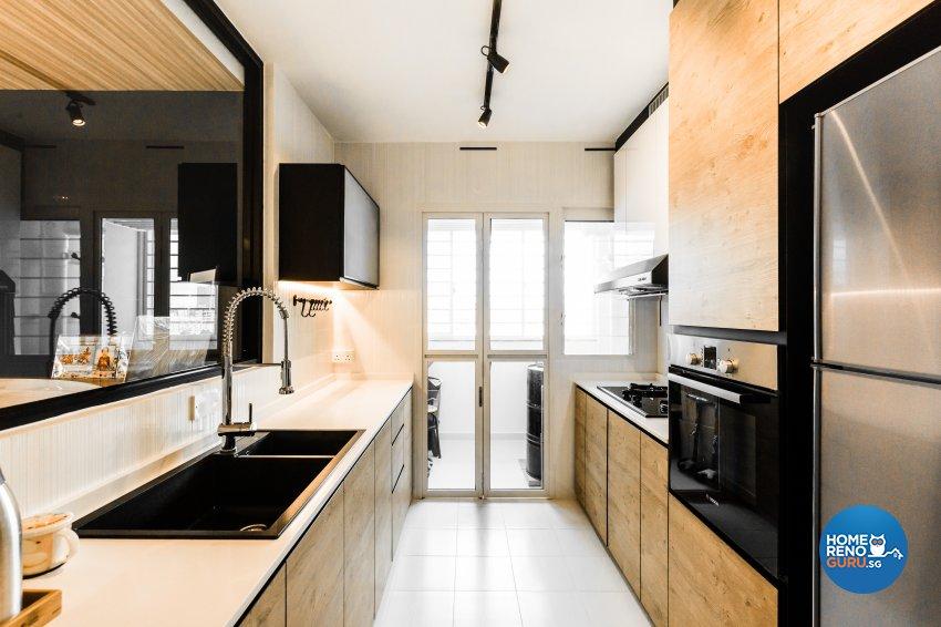 Eclectic, Industrial, Scandinavian Design - Kitchen - HDB 5 Room - Design by Hue Concept Interior Design Pte Ltd