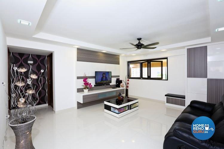 Minimalist Design - Living Room - HDB 3 Room - Design by Hwa Li Design & Build Pte Ltd