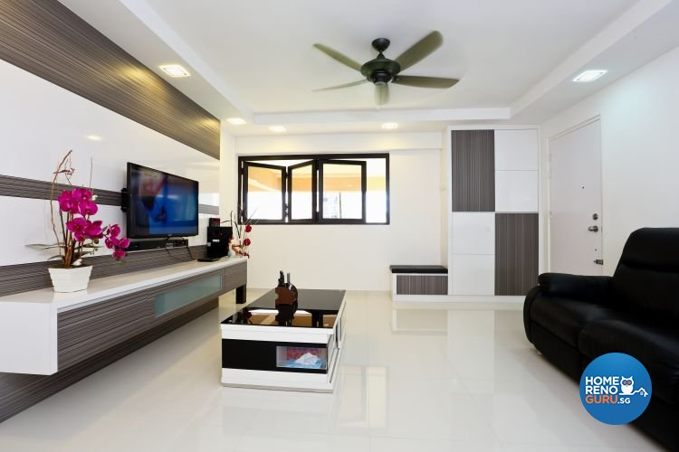 Minimalist Design - Living Room - HDB 3 Room - Design by Hwa Li Design & Build Pte Ltd