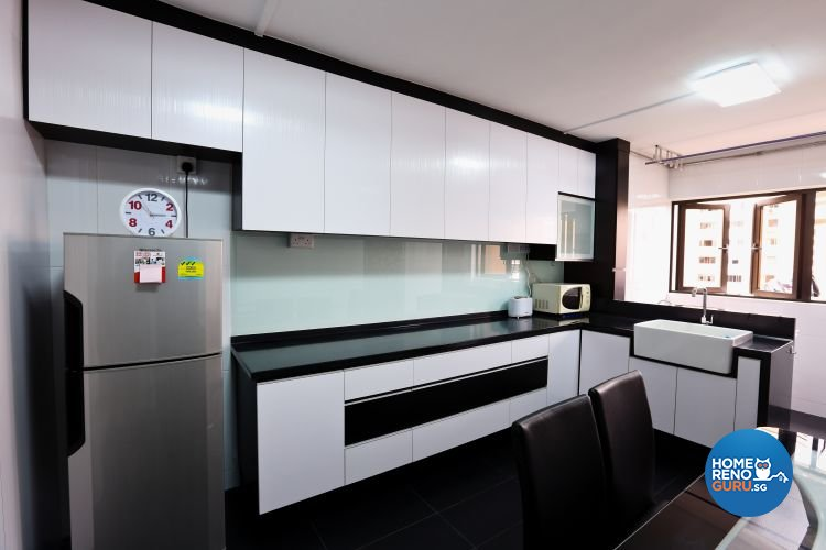 Minimalist Design - Kitchen - HDB 3 Room - Design by Hwa Li Design & Build Pte Ltd