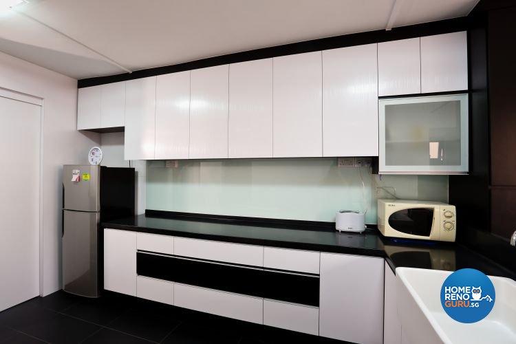 Minimalist Design - Kitchen - HDB 3 Room - Design by Hwa Li Design & Build Pte Ltd