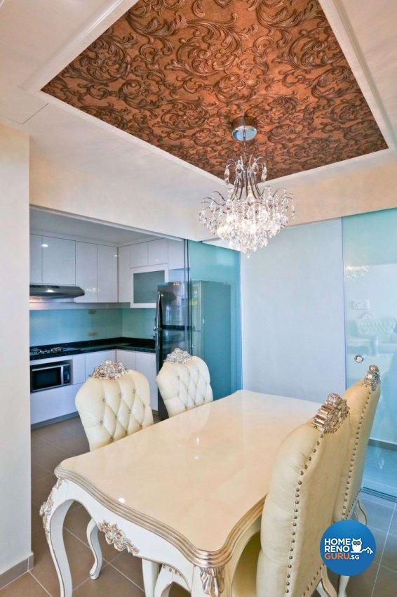 Classical, Victorian Design - Dining Room - Condominium - Design by Hwa Li Design & Build Pte Ltd