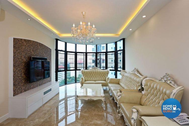 Classical, Victorian Design - Living Room - Condominium - Design by Hwa Li Design & Build Pte Ltd