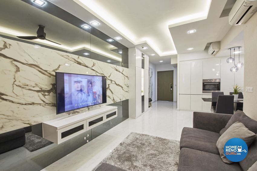 Modern Design - Living Room - Condominium - Design by I-chapter Pte Ltd