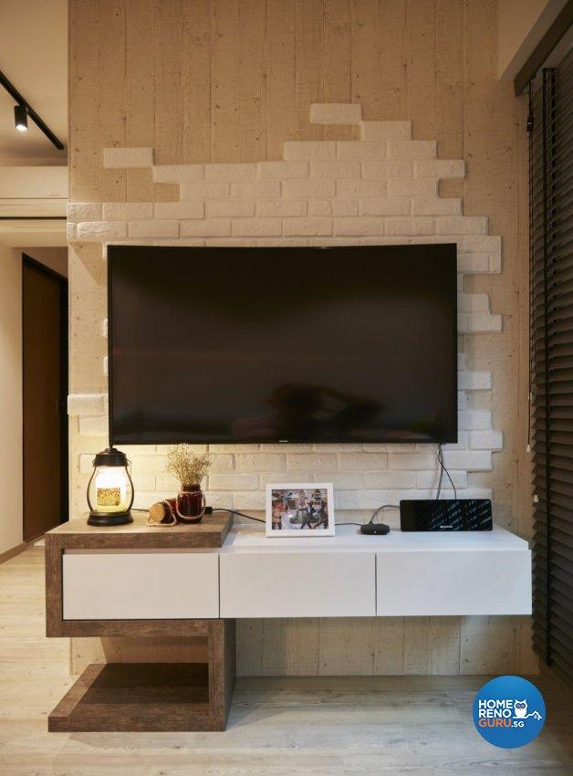 Scandinavian Design - Living Room - HDB 4 Room - Design by I-chapter Pte Ltd