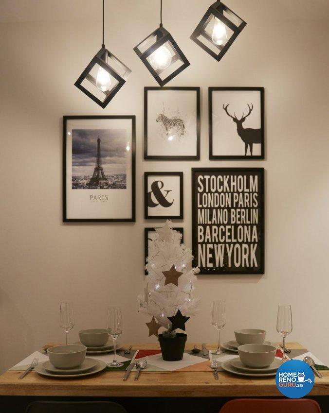 Scandinavian Design - Dining Room - HDB 4 Room - Design by I-chapter Pte Ltd