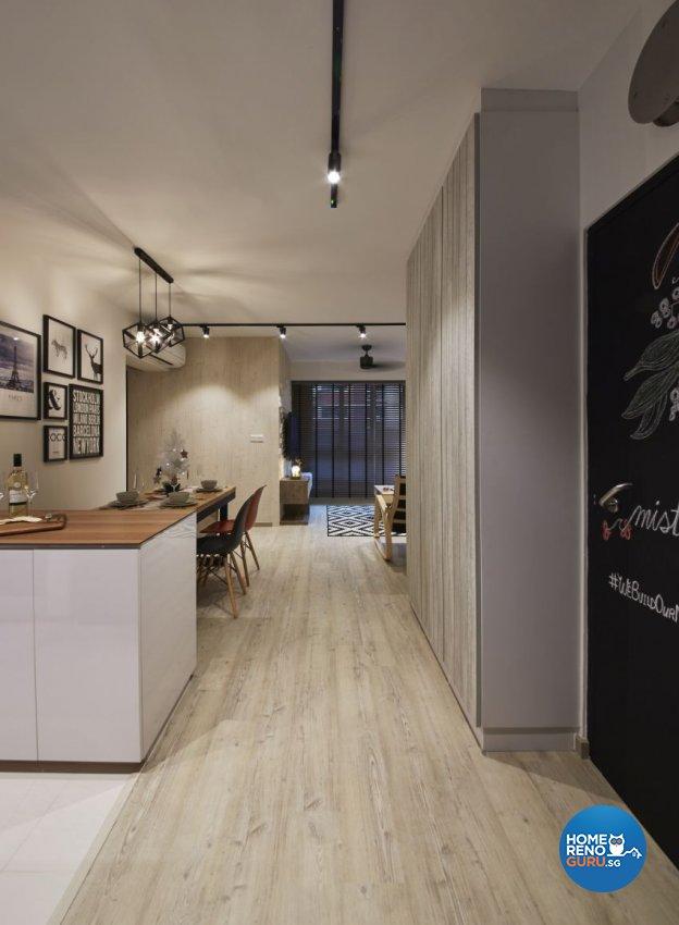 Scandinavian Design - Kitchen - HDB 4 Room - Design by I-chapter Pte Ltd