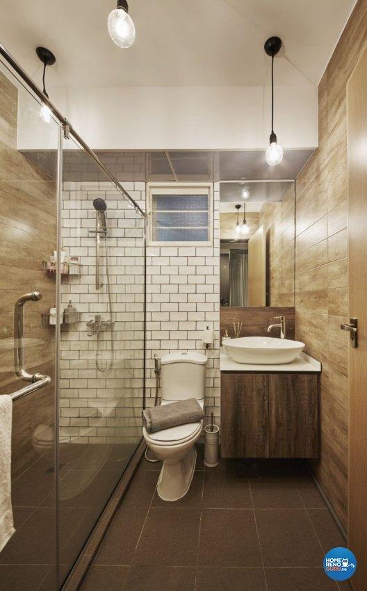 Scandinavian Design - Bathroom - HDB 4 Room - Design by I-chapter Pte Ltd