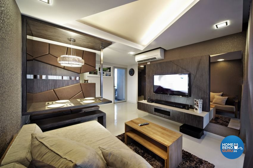 Modern, Resort Design - Living Room - HDB 4 Room - Design by I-chapter Pte Ltd