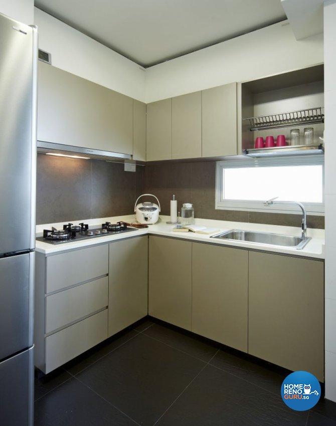 Modern, Resort Design - Kitchen - HDB 4 Room - Design by I-chapter Pte Ltd