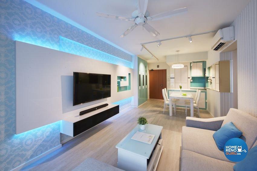 Classical, Modern Design - Living Room - HDB 4 Room - Design by I-chapter Pte Ltd
