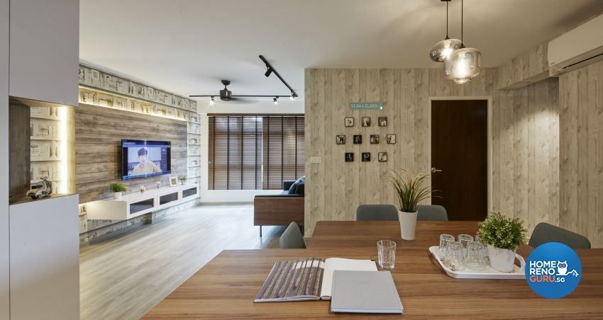Scandinavian Design - Living Room - HDB 4 Room - Design by I-chapter Pte Ltd