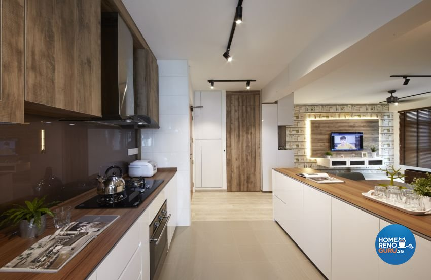 Scandinavian Design - Kitchen - HDB 4 Room - Design by I-chapter Pte Ltd