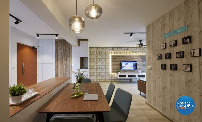 Scandinavian Design - Dining Room - HDB 4 Room - Design by I-chapter Pte Ltd