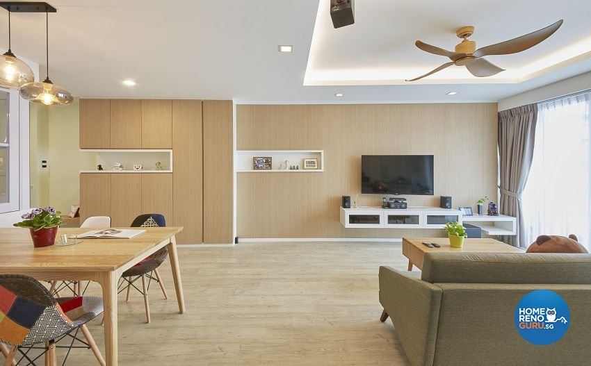 Contemporary, Scandinavian Design - Living Room - HDB 5 Room - Design by I-chapter Pte Ltd