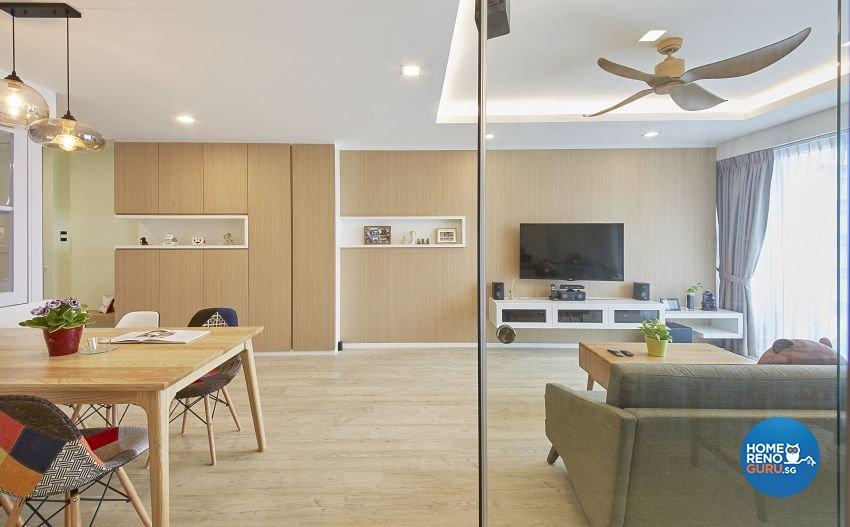 Contemporary, Scandinavian Design - Living Room - HDB 5 Room - Design by I-chapter Pte Ltd