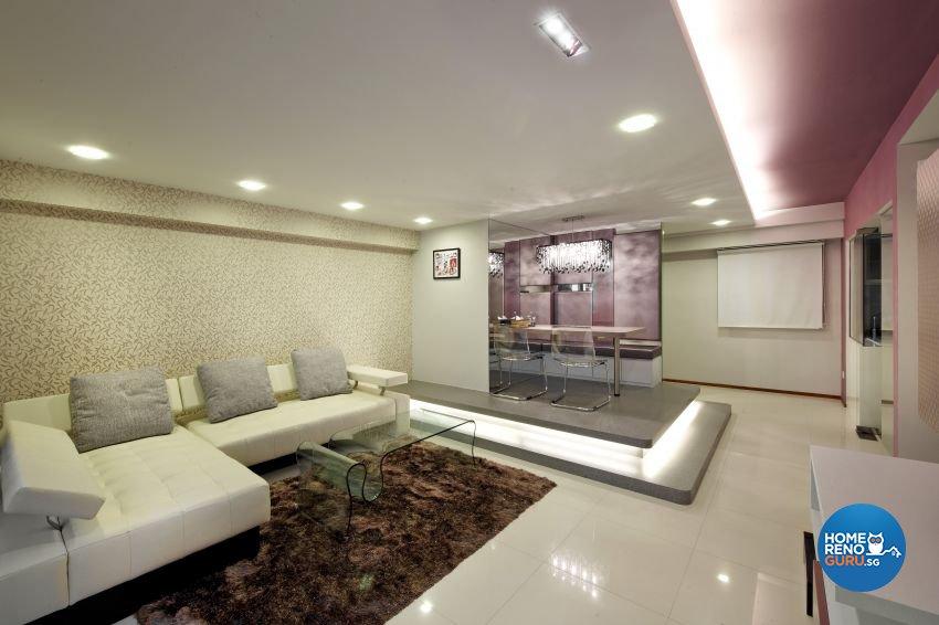 Modern Design - Living Room - HDB 5 Room - Design by I-chapter Pte Ltd