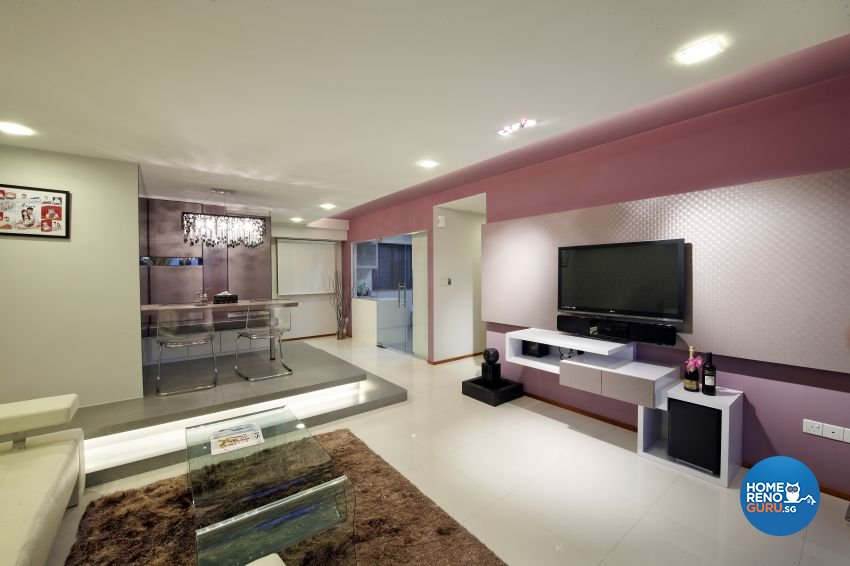 Modern Design - Living Room - HDB 5 Room - Design by I-chapter Pte Ltd
