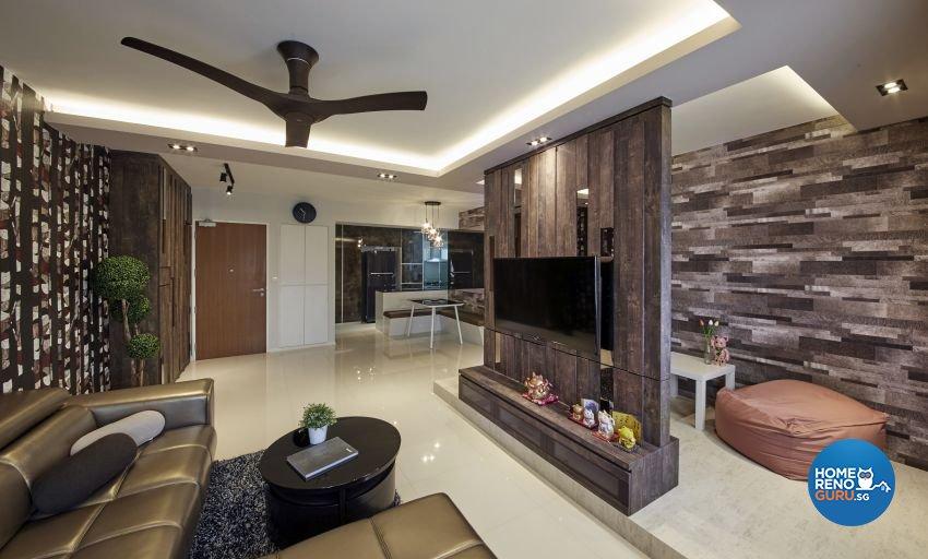Modern, Resort, Tropical Design - Living Room - HDB 5 Room - Design by I-chapter Pte Ltd